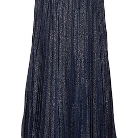 Alice + Olivia - Katz pleated metallic silk-blend jacquard maxi skirt