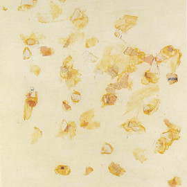 Cy Twombly - untitled, 1959, collage and crayon on paper