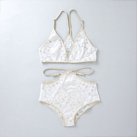 ヤーチャイカ for GIRLIN' - ヤーチャイカ for GIRLIN'  ::: PUNK LOVE :::  Bra & Panty Set (GIRLIN' WHITE)