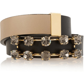 MARNI - Embellished leather wrap bracelet