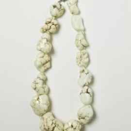 Vintage White Turquoise 'Rock' Necklace