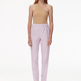 tibi - Tissue Faux Leather Pull On Pant Purply Pink