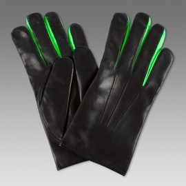 Paul Smith - Black Neon Trim Leather Gloves