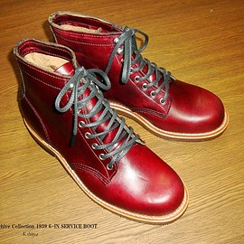 Chippewa - Archive Collection 1939 6-IN SERVICE BOOT Burgandy