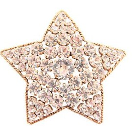 CHANEL - VINTAGE CHANEL CRYSTALS STAR BROOCH PIN