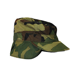 VINTAGE - Vintage Camouflage Camo Military Cap with Ear Flaps Hunting Streetwear Hat Sz 7