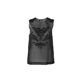 BY MALENE BIRGER - Malinon embroidered top | Black