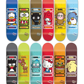 GIRL - GIRL × Sanrio skateboard deck series