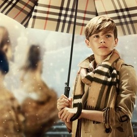 Romeo Beckham in Burberry's holiday campaign.