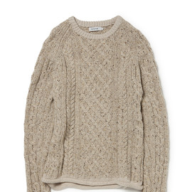 nonnative - MARINER SWEATER DONEGAL WOOL