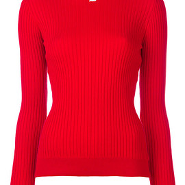 Courrèges - ribbed knitted blouse