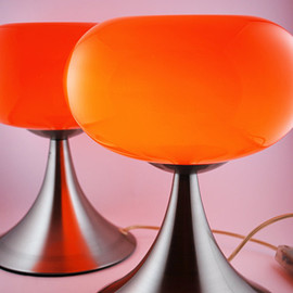 Prisma Leuchten - Prisma Leuchten - Absolutely Radiant Orange Glass & Brushed Auminium Desklamp