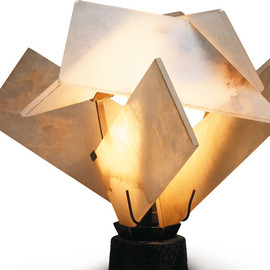 "Pierre Chareau - LP166 Model, ""Flower"" lamp, c.1925"