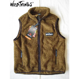 Wild Things - モンスターフリースベスト MONSTER FLEECE VEST COYOTE WILD THINGS