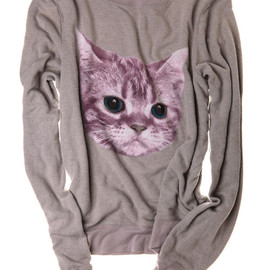 Wildfox - Grey Cat Lady Sweatshirt