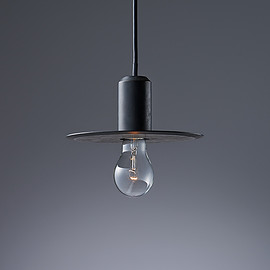 NEW LIGHT POTTERY - BULLET FLAT SHADE/BLACK