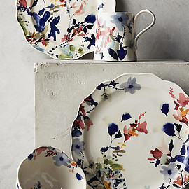 ANTHROPOLOGIE - Wildflower Study Dinner Plate