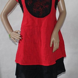 Dresses for Women - Women red sundress Summer asymmetric dress Dresses for Women