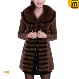 CWMALLS - Women Slim Fur Leather Down Coat CW691218 - JACKETS.CWMALLS.COM