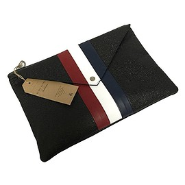 BLACK FLEECE BY Brooks Brothers - BLACK FLEECE TRICOLORE LEATHER【CLUTCH BAG】