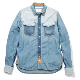 White Mountaineering - USED DENIM WESTERN SHIRT