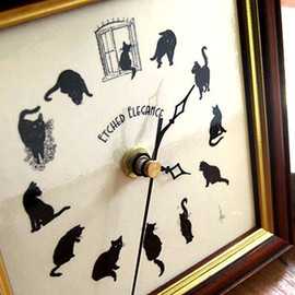cats wall watch