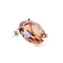 simmon - K10×SV Crystal Earring (brown)