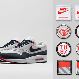 Nike - Air Max 1 Patch - White/University Red/Obsidan