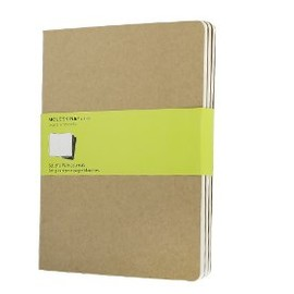 Moleskine - Moleskine Plain Cahier Journal Kraft XLarge: set of 3 Plain Journals