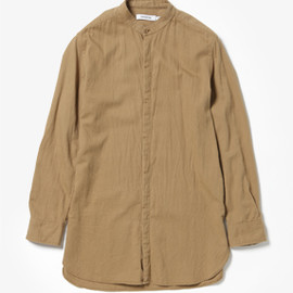 nonnative - Doctor Long Shirt Cotton Chino Cloth Vegetable Dyed (Beige)