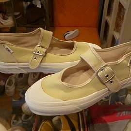 "vans - 「<used>90's vans MARY JANE light olive""made in USA"" size:W's US9?(25cm?) 4800yen」販売中"