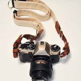 GowStar - Leather Camera Strap - Brown