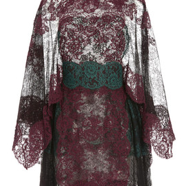 VALENTINO - Lace Capsleeve Dress With Lace Capelet