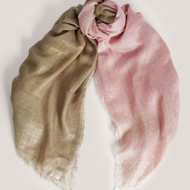 Faliero Sarti - Modex two-tone silk-blend scarf