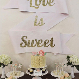 Wedding Chicks - DIY love is sweet swag sign