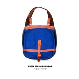 Quote Studio - Quote Leather and Canvas Biker Bag -- Messenger bag