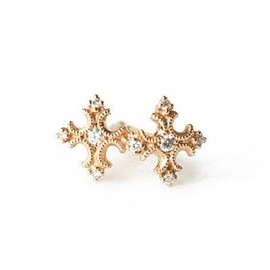 AbHeri - Diamond Pierced-Earrings