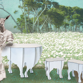 iBride - OWEN Sheep Table & SCOTTY Lamb Stool by Benoît Couvers