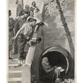 Diogenes in His Barrel Giclee Print
