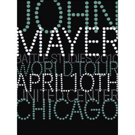John Mayer - Chicago, IL Serigraph by House Industries