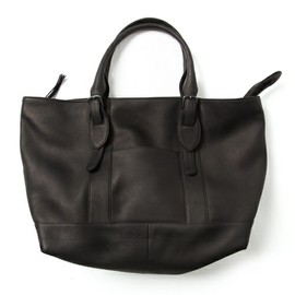 MR.OLIVE E.O.I - WATER PROOF WASHABLE LEATHER / WORK&TOTE BAG(トートバッグ)|ブラック
