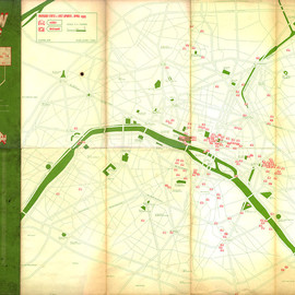 """THE SPACE INVADERS - INVASION MAP 01 THE FIRST MAP """"PARIS"""""""