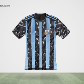 MARCELO BURLON - ARGENTINA Jersey(What if World Cup Jerseys were Designed by Famous Fashion Designers?)