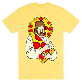 lookhuman.com - Pizza Jesus Tee