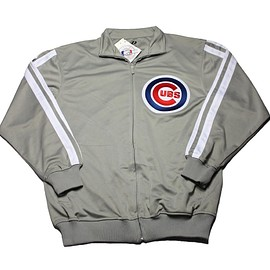 MLB - Chicago Cubs Track Jacket in Gray Mens Size Medium