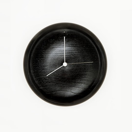 GLOCAL STANDARD PRODUCTS - WALL CLOCK ( 拭き漆 黒 )