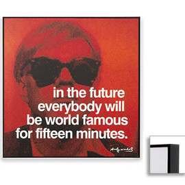 Andy Warhol - Famous Quotes,Matted Prints,Fifteen Minutes (Dark Brown Frame)