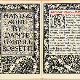 Dante Gabriel Rossetti - Hand & Soul, Limited 300 copies, Kelmscott Press, 1895
