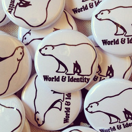 World & Identity - 1 inch bear Badge