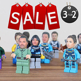 funky3Dfaces - Custom make your OWN head for Lego Minifigure